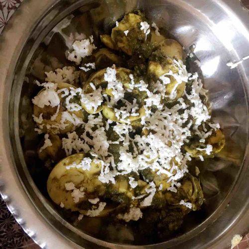 Egg Palak Paneer