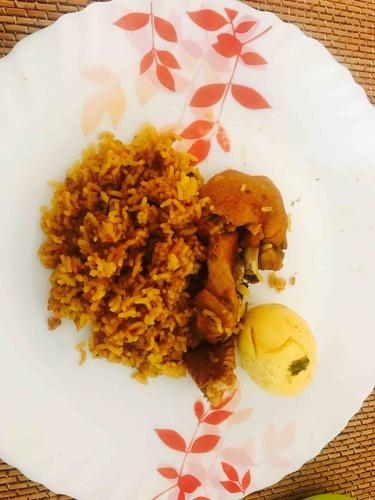 Chicken egg pulao