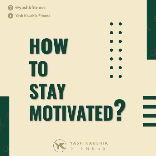 How to stay motivated on your own?