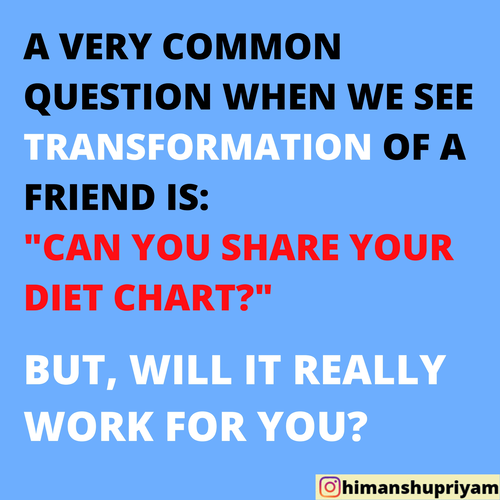 "PLANNING TO ""BORROW"" YOUR FRIEND'S DIET PLAN? READ THIS FIRST"
