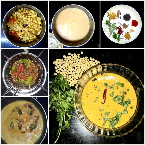 "SOYA BEAN DAL RECIPIE  Who doesn't like Dal Chawal ??? then this dal recipe is not with tuvar dal but ""SOYA BEAN ""."