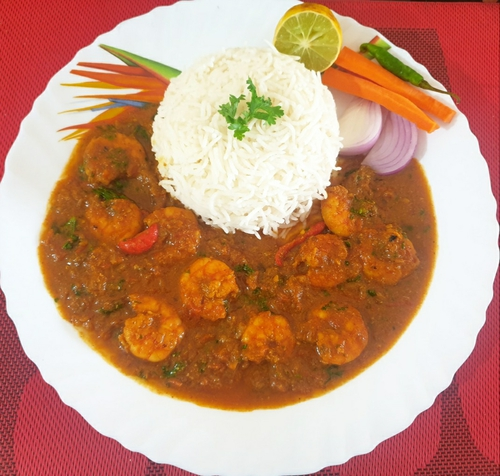 Prawns Curry Rice