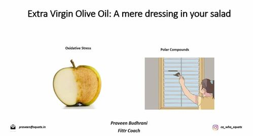 Extra Virgin Olive Oil: A mere dressing in your salad