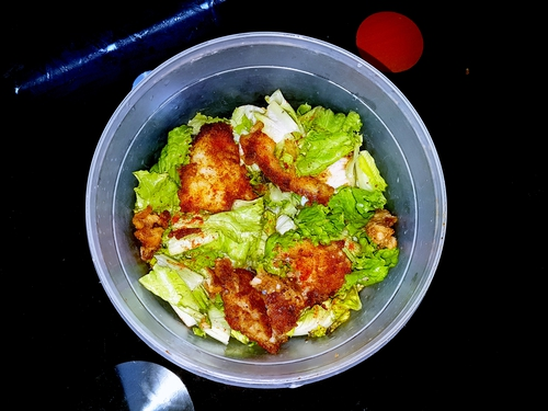 chicken breast salad with lettuce