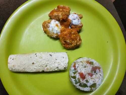 Chicken Kofta with veggies rice