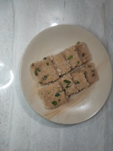 whey protein coconut barfi