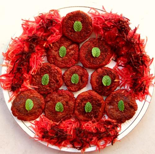 Soya Carrot-Beetroot Cutlets