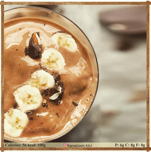 High Protein banana chocolate Thick shake
