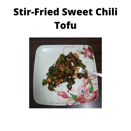 Stir fried sweet tofu