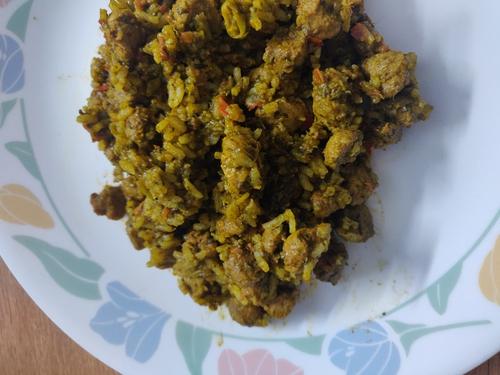 soya palak pulao(Navratri special)