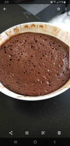 1 minute Whey protein brownie
