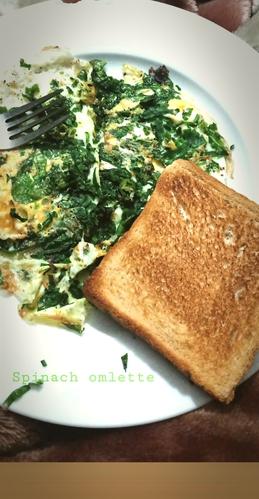spinach omlette