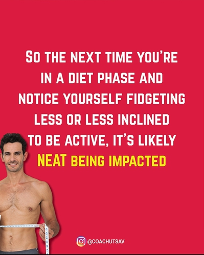 You burn fewer calories in the dieting phase!