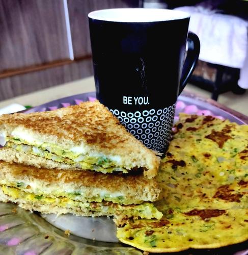Besan Chilla Sandwich