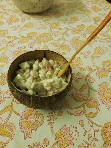 Soya curd Salad