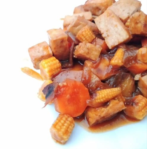Garlic Tofu Stir fry