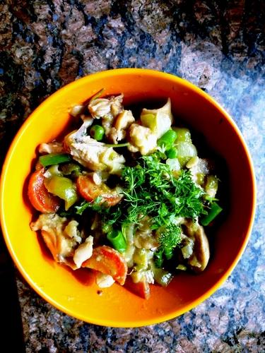 Pan fried Chicken with veggies #tc9 #week2 #hope