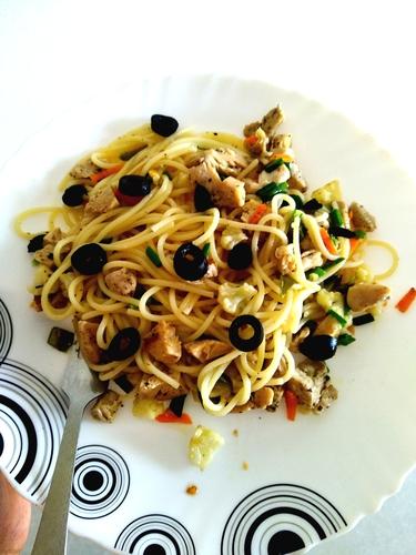 chicken spaghetti pasta 🍝
