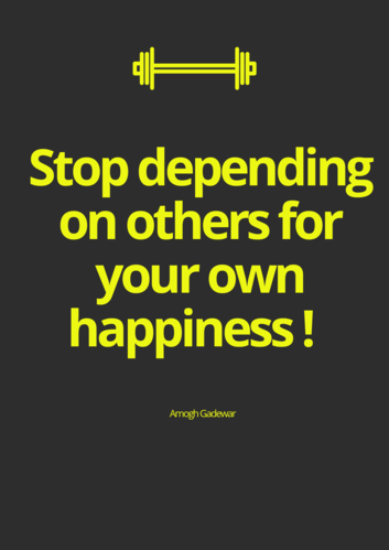 Stop Buying Happiness on Rent !