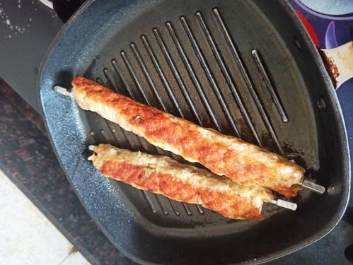 Homemade chicken seekh kebab