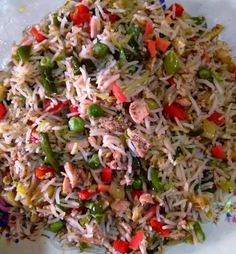 Mixed Veggie-chicken fried rice