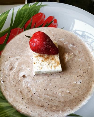 Paneer (Cottage cheese) in whey oats porridge