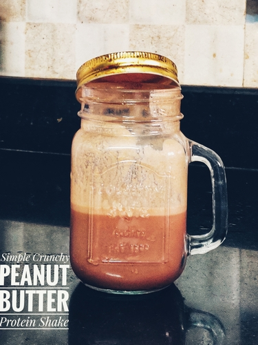 Simple Crunchy Peanut Butter Shake