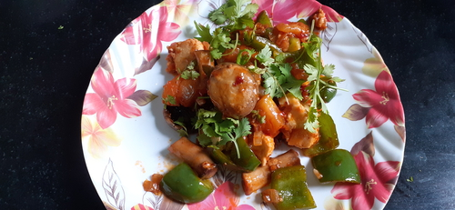 Paneer mushroom chilli