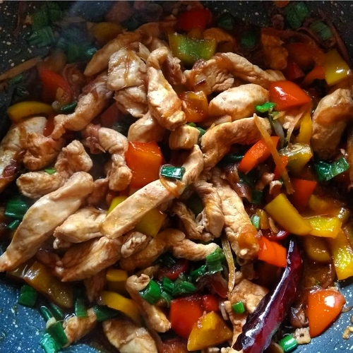 Healthy Chilly Chicken (No MSG)