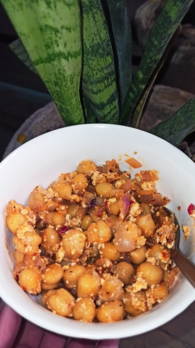 Healthy Channa Chaat