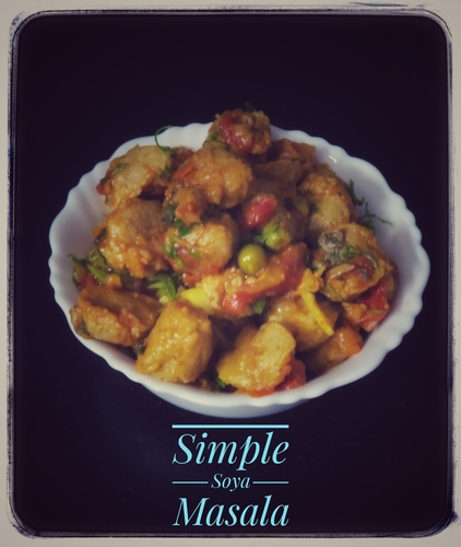 Simple Soya Chunks Masala