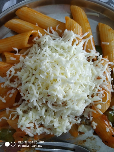 Red Sauce Pasta with Cheese
