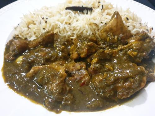 Chicken Saagwala & Jeera Rice