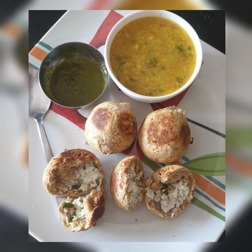 Rajasthani Paneer stuffed Bafla bati and dal