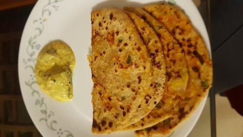 Paneer Paratha (Without Onion & Garlic)