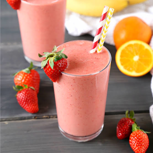 Strawberry banana smoothie(w/orange)