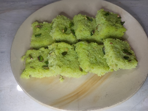 fresh coconut barfi(nariyal barfi)