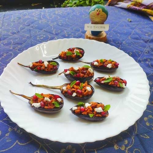 Middle Eastern eggplant boats