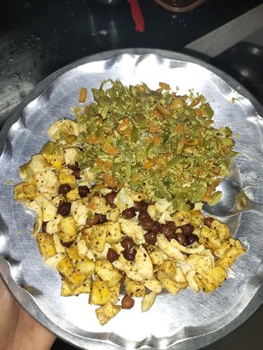Paneer, Egg & Channa burji