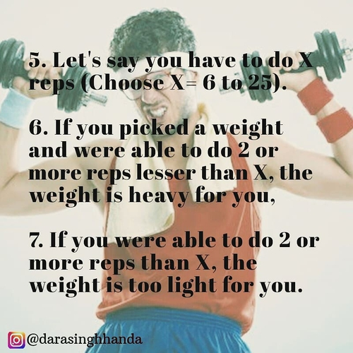 How do you choose the weight you lift?