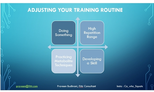 Adjusting your Training Routine