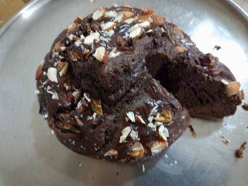 Almond n Dates Protien  Cake