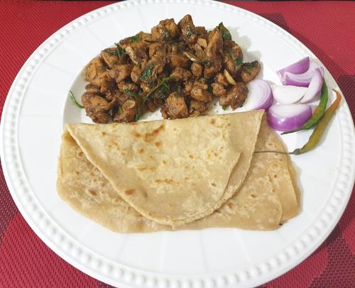 Chicken Sukka and Paratha