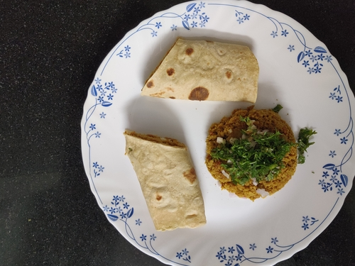 Simple Soya Kheema Frankie