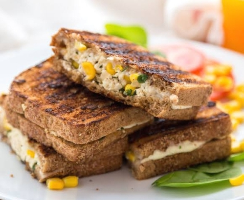 grilled corn sandwich