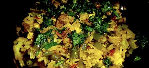Vegetable Pulao wid cheese,soya n paneer