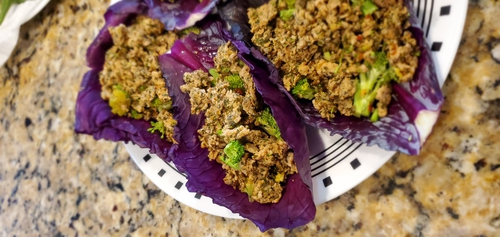 cabbage turkey tacos